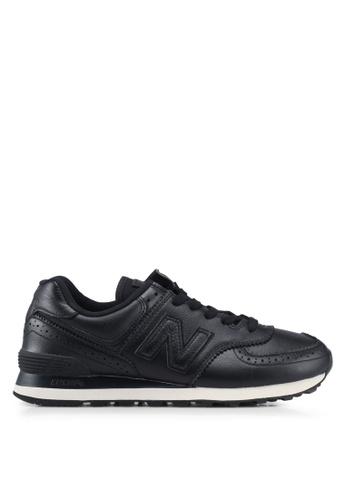 New Balance black 574 Lifestyle Shoes 11FC5SH5A4221DGS_1