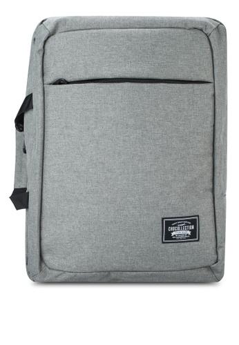 Chocollection grey Mabiz 2-Way Backpack/Laptop Bag CH825AC38GTDHK_1