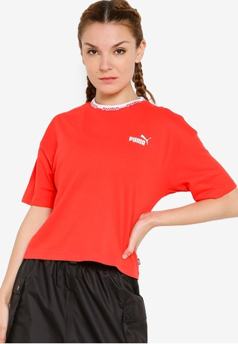 PUMA red Amplified Tee 41996AAC332AEAGS_1