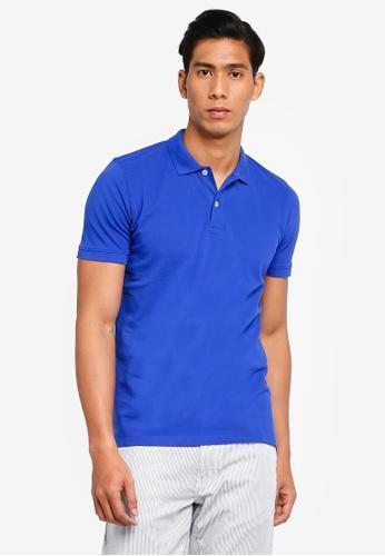 OVS 藍色 素色POLO衫 85FE1AA439840CGS_1