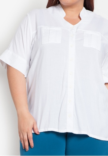 0f42d07507728 Shop Maxine Plus Size Top with Pockets Online on ZALORA Philippines