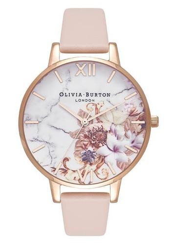 Olivia Burton gold MARBLE FLORALS Rose-Gold 38 mm Women's Watch C3FBCAC6A790C2GS_1