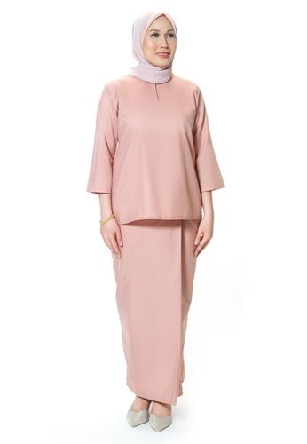 House Of Olsha pink Signature Kamelia Kurung Kedah - Skin Pink FCB92AA888A528GS_1
