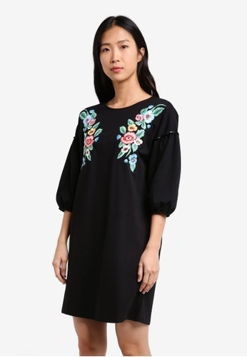 Mango black Floral Embroidery Dress MA193AA0RXSGMY_1