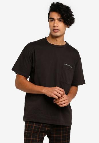 Cotton On 黑色 口袋T恤 DA0AFAA15EB918GS_1