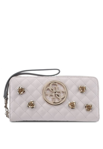 Guess beige G Lux Sling Large Zip Around 07950AC6A62EFEGS_1
