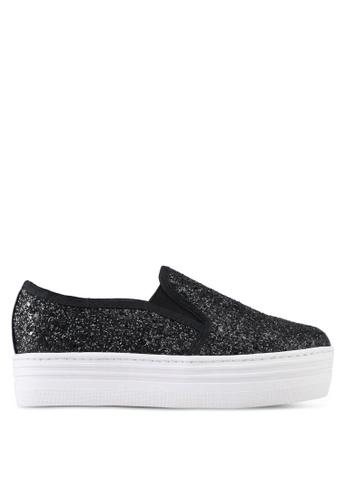 Something Borrowed black Glitter Slip-Ons 537CESHA305A49GS_1