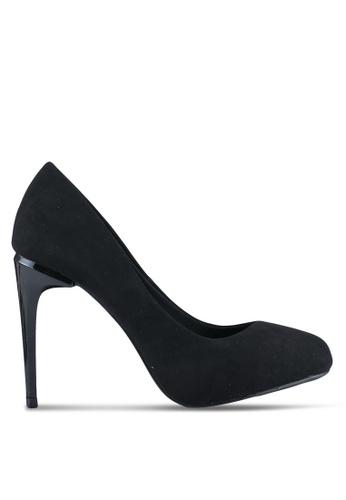 VINCCI black Round Toe Pump Heels VI831SH0SY69MY_1
