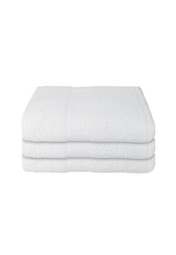 Milton Home white SET OF 3 Milton Home Juro -SBT 100% Cotton Sports Bath Towel 60x110cm/ 270g. AC4C4HLC98598DGS_1