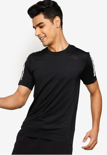 ADIDAS 黑色 techfit 3-stripes fitted tee 7803AAAEBDFC16GS_1