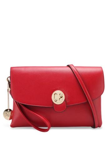 Perllini&Mel red Faux Leather Clutch Wristlet PE444AC0SJ0EMY_1