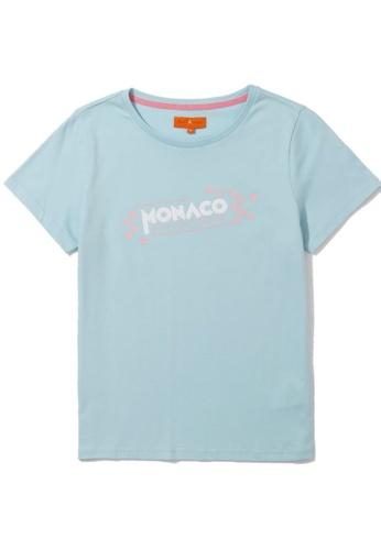 "tout à coup blue ""Monaco"" print tee 139BBAA6520EB4GS_1"