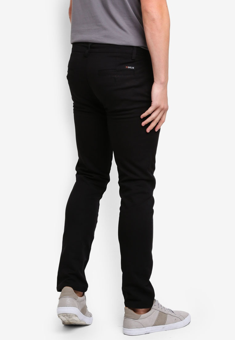 430 Slim Straight Black Chinos Fidelio wPaqZzgSpw