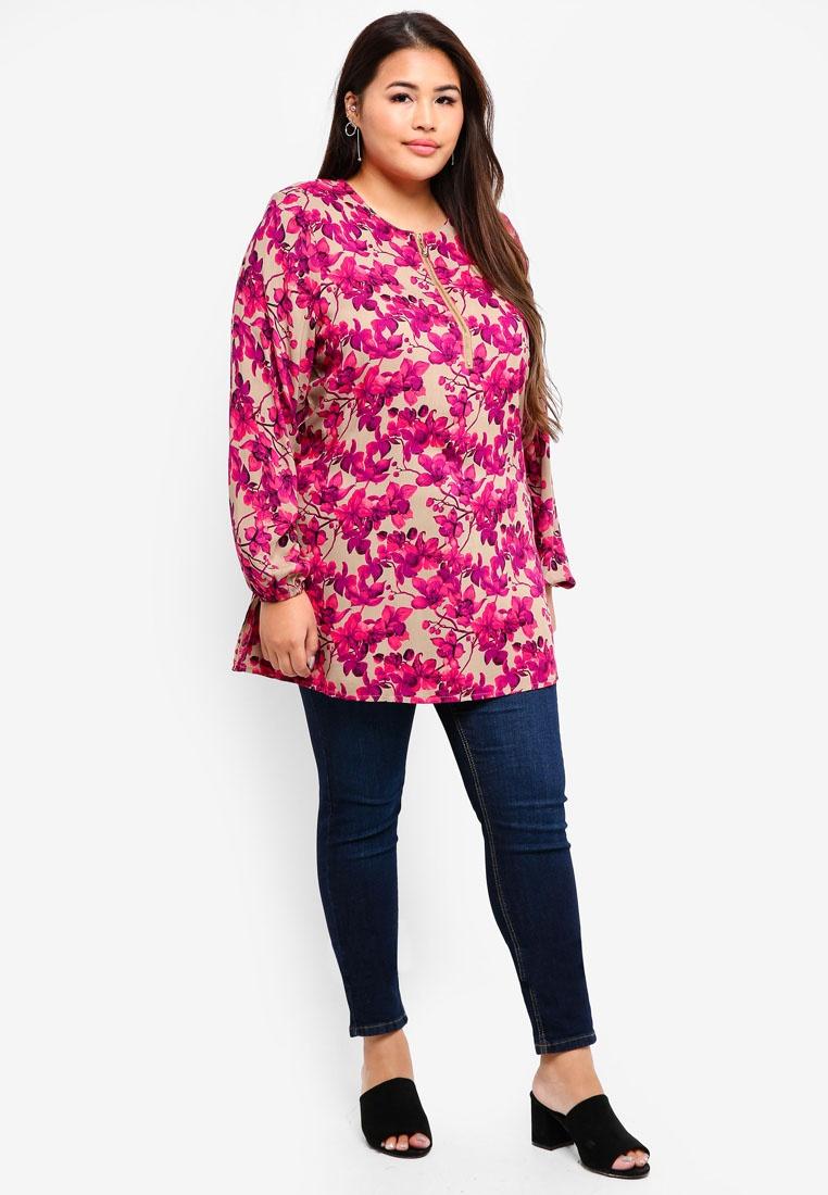 Pink Pink Muslimah BYN Soft Size Plus Blouse YEEaIw