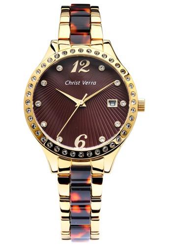 Christ Verra brown Fashion Women's Watches CV 70069L-12 BRN E86CDAC6D7AFD4GS_1