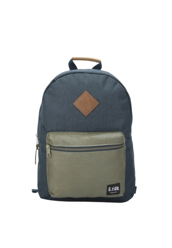 G.ride green and navy Blanche Backpack C00E3ACDDB3026GS_1