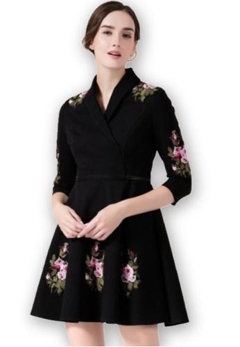 Sunnydaysweety black Black and White Stripe Pattern Dress UA110912 617D2AAB2FE7EEGS_1