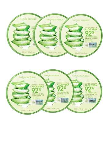 NATURE REPUBLIC Bundle 6 - Soothing & Moisture Aloe Vera 92% Soothing Gel 300ml 07DC6BE99917FAGS_1