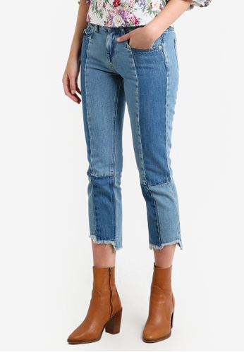 Mango blue Relaxed Crop Cigar Jeans MA193AA0RAVCMY_1