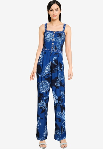 Desigual navy Paisley Printed Jumpsuit E910FAA052C11AGS_1