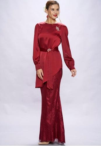 Loveaisyah red Modern Maroon Baju Kurung 91DD8AA9EB5D3CGS_1