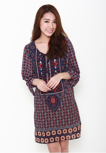 Leline Style red Vera Tunic Dress LE802AA84ZKLSG_1