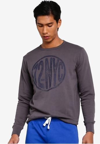 OVS 灰色 印花Sweatshirt 5CC16AAC3F6B72GS_1