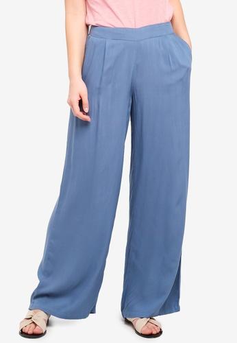 ICHI blue Dipta Pants 46B56AAE8C52FDGS_1