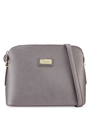 Mel&Co grey Metallic Mini Sling Bag F8537ACE5490B9GS_1