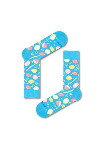 Talking Toes blue Talking Toes Be Positive Lemonade Socks CC327AAC357941GS_1