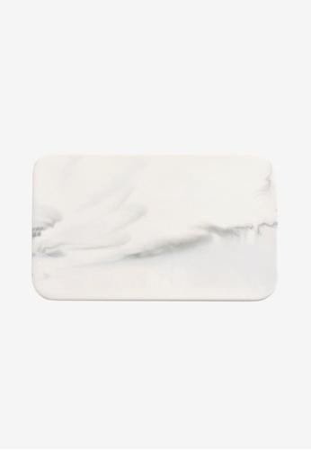 Propstation white French Kitchen White Ceramic Marble Serving Platter 26cm 7FA76HL6D1DB64GS_1