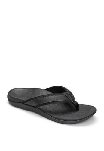 Vionic black Mens Tide 11 Sandals 43CEESH9FD578BGS_1