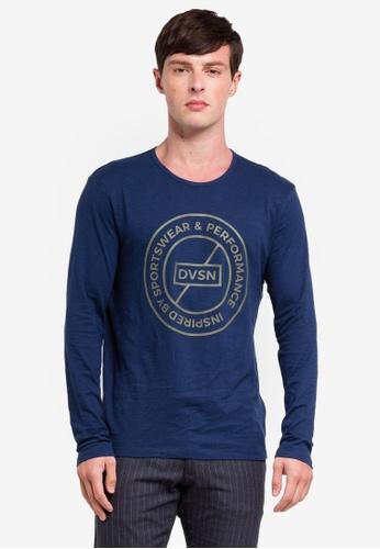 ESPRIT 海軍藍色 長袖T恤 B9482AA050D9B3GS_1