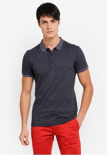 BOSS blue Pattern Polo Shirt - Boss Casual BO517AA0SRBRMY_1