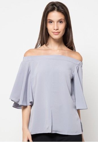 Contempo grey Sabrina Blouses CO339AA64PVBID_1