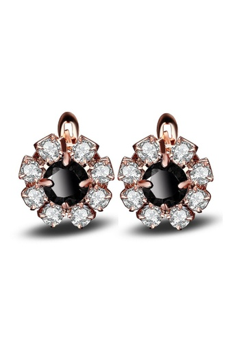 Kings Collection gold Korean Flower Crystal Earrings D814AAC2C9F839GS_1