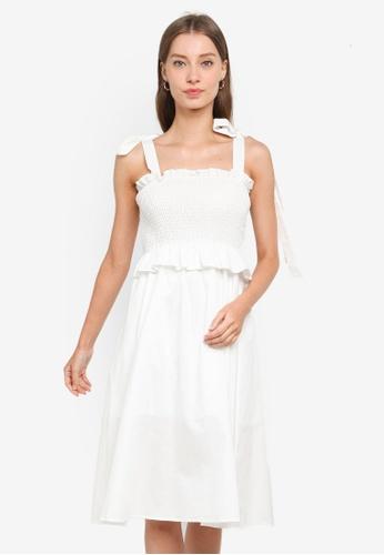 URBAN REVIVO white Tie Straps Dress 660ECAA8D1BF25GS_1