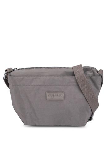 Bagstationz brown Crinkled Nylon Mini Sling Bag B9250ACF12D002GS_1