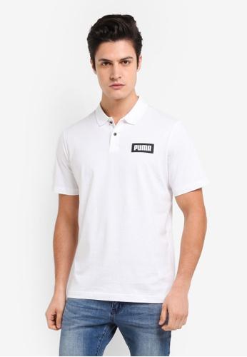 Puma white Rebel Print Polo Shirt PU549AA0SWJLMY_1