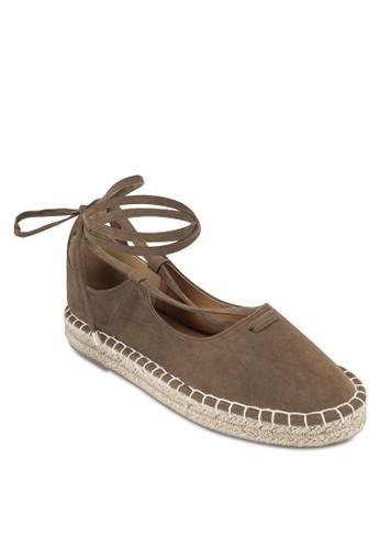 Saesprit 眼鏡ndy 纏繞式踝帶麻編鞋, 女鞋, 鞋