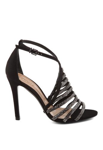 Covet black Schutz Emma Ankle Strap Heels CO331SH05HFAPH_1