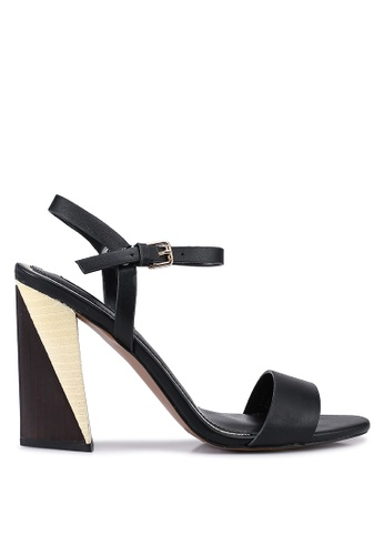 River Island black Brace Split Block Heels 5D231SH9088AD3GS_1