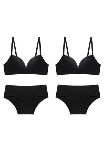 K.Excellence 黑色 2 Set Premium Comfort Black&black Lingerie (Bra and Underwear) 992D8US7F6E8FFGS_1