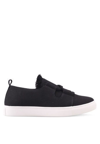ZALORA black Raw Edge Tassel Sneakers 2655ASH157311DGS_1