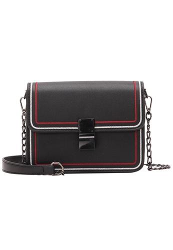 Lara black Women's Small Top Flap Sling Bag E589DACBD58500GS_1
