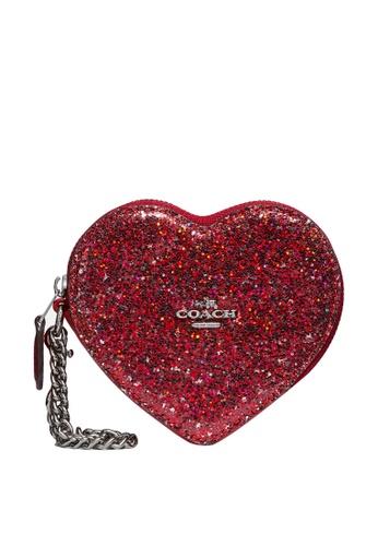 Coach red Heart Coin Case (cv) 8D89EAC762F574GS_1