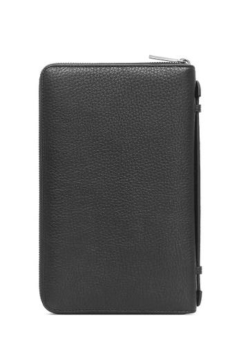 BONIA Black Casterly Long Zipper Wallet 07E5EACBE87073GS_1