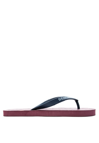 BENCH red Basic Rubber Slippers BE550SH95LUAPH_1