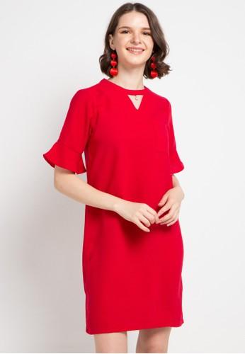 B.L.F red Leona Shift Dress 25DD6AA00F15D6GS_1
