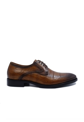 Goldlion brown Goldlion Premium Derby Shoes in Light Brown (HSH114TG92B-70) 6F357SH4158B56GS_1